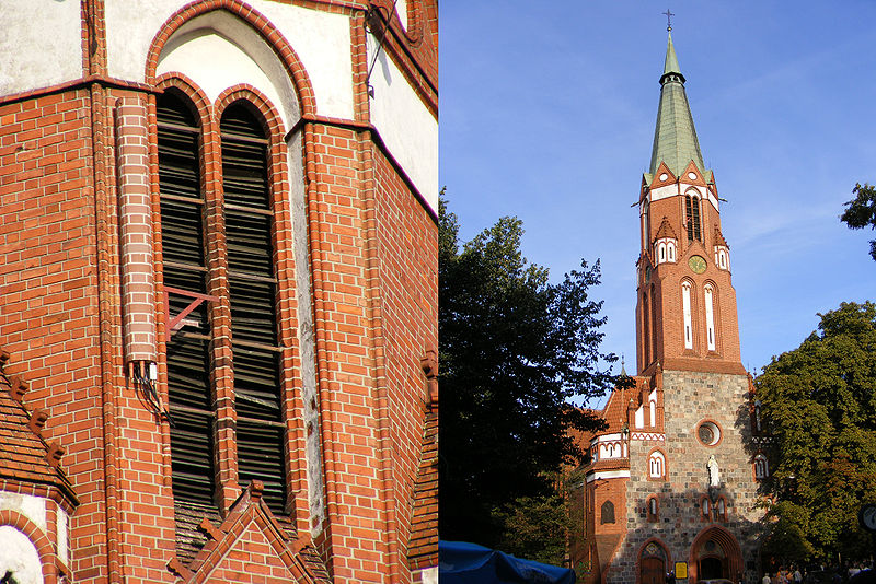 a cell site expertly hidden on a church