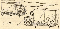 Brian Robb's sketch of 'Cannibal' disguise of 25-pounder gun, limber, quad as trucks.jpg